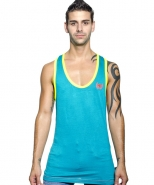 Sexy Racer Back Tank Teal