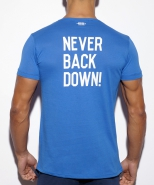 TS172 Never Back Down U-Neck T-Shirt Roy...