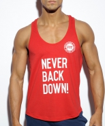 TS169 Never Back Down Tank Top Red