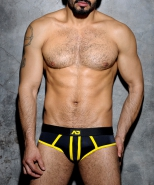 ADF11 Stripe Fetish Brief Yellow