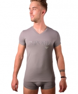 Colored Basic Megalogo V-Neck T-shirt Ir...