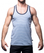 Summer Tank Heather Grey/Blue Stripe