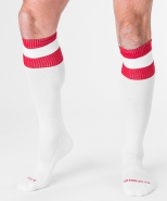 Barcode Football Socks white-red