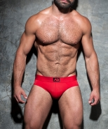 ADF92 Bottomless Fetish Brief Red