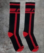 ADF109 Pockets Fetish Long Socks Red