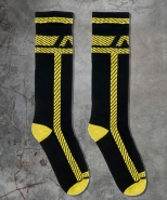 ADF109 Pockets Fetish Long Socks Yellow