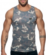 AD801 Washed Camo Tank Top