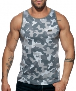 Ad801 washed camo tank top grey