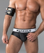 Maskulo Rubber-Look Brief Codpiece + Ope...