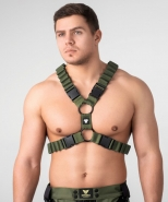 Enforce x-style harness dark olive