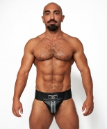 Mister B Leather Premium Jockstrap Black...