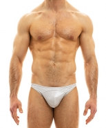 Viral Vinyl Low Cut Brief Taupe Grey
