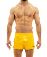 Viral Vinyl Shorts Yellow