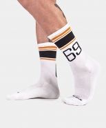 Sport Socks 69 White-Orange-Black