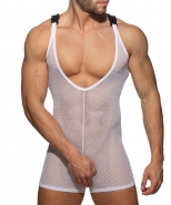AD945 Mesh Wrestling Suit White