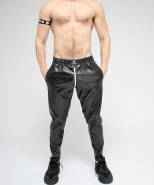 Maskulo Skulla Leatherette Pants White