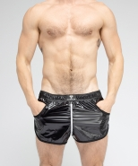 Maskulo Skulla Shiny Nylon Jogging Short...