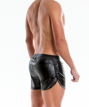 Leather Short Black