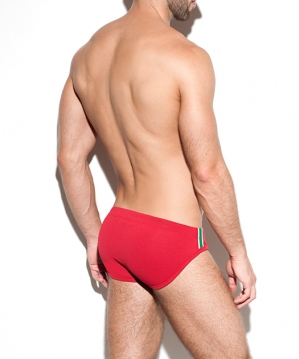 1915 Bon Voyage Swim Brief Red