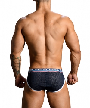 Almost Naked Retro Mesh Brief Navy