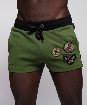 SP222 Army Padded Sport Shorts Kaki