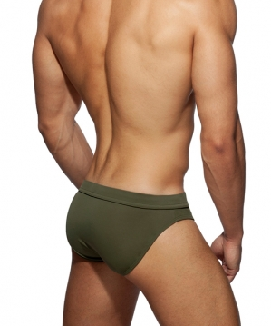 ADS237 Dick Up Swim Brief Kaki