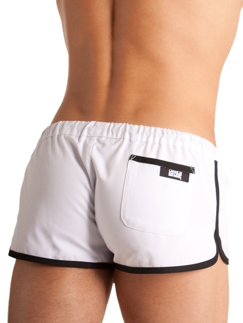 Gym Short Barcode wht/blk